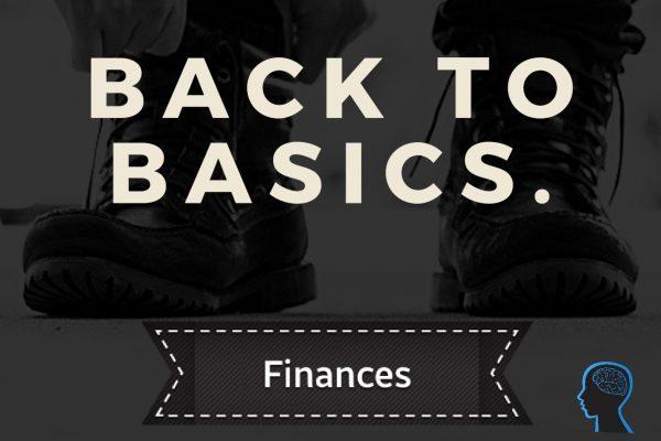 Back to basics – Finances