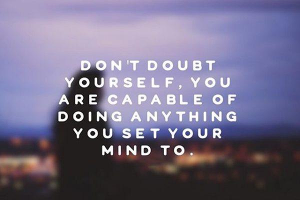 Tackling creative self-doubt